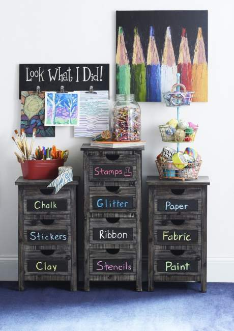 Artsy Kids Room Storage Ideas