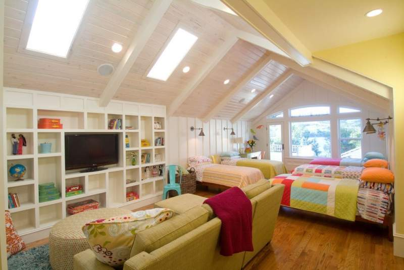 Attic Kids Room Storage Ideas