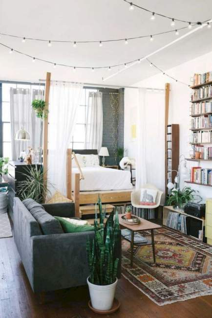bohemian cozy apartment decorating on budget