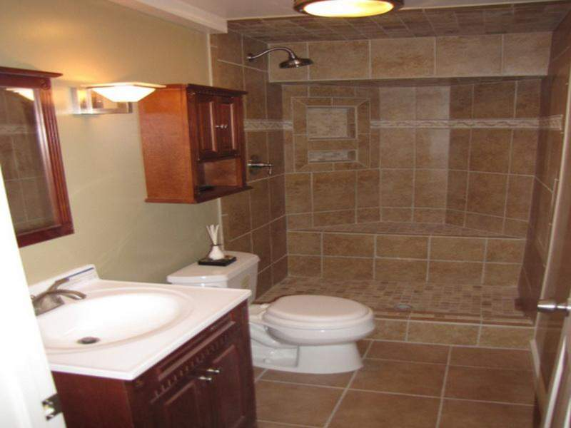 brown basement bathroom ideas