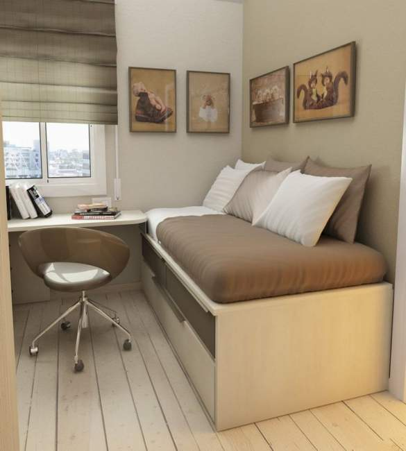 brown bedroom office combos