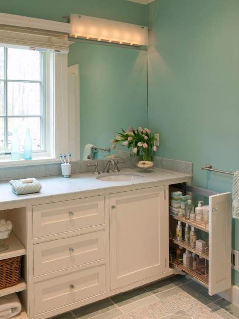 Built In Wood Savvy Bathroom Storage Ideas