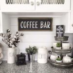 20+ Chic Coffee Bar Ideas that Will Makes All Coffee Lovers Falling in Love