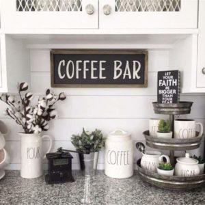 chic coffee bar ideas