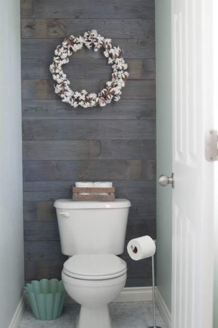 classic rustic half bathroom ideas