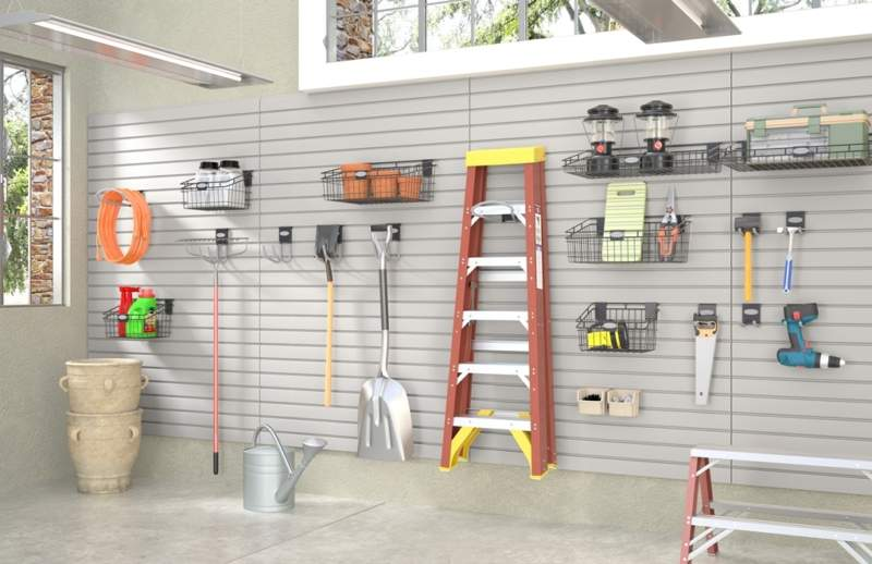 Coastal Garage Storage Ideas