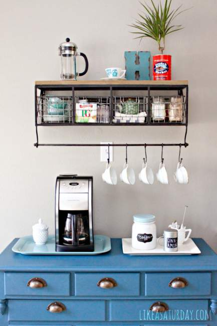 colorful coffee bar ideas