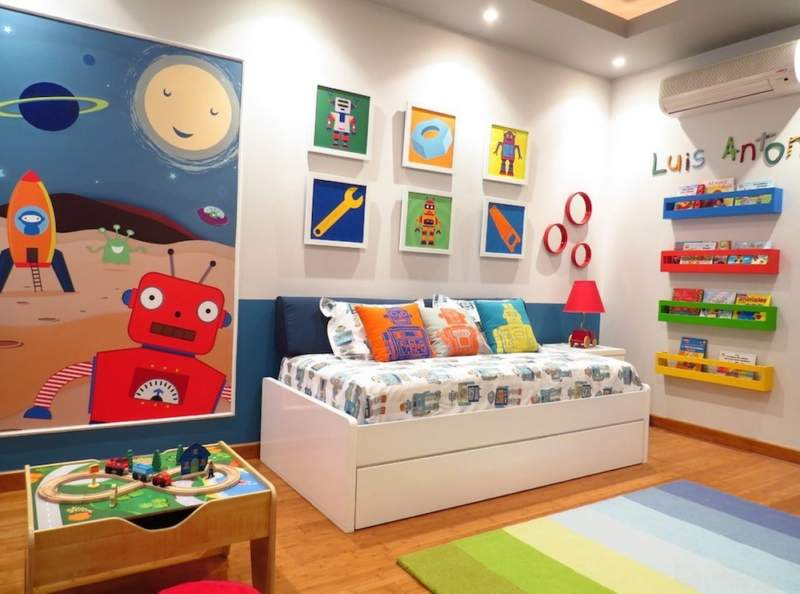 Colorful Kids Room Storage Ideas