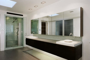 contemporary built in bathroom storage ideas