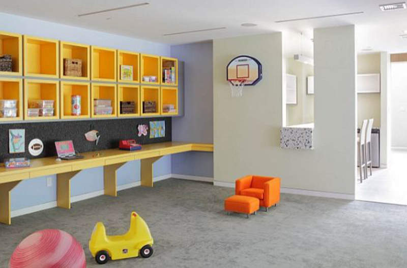 Contemporary Kids Room Storage Ideas