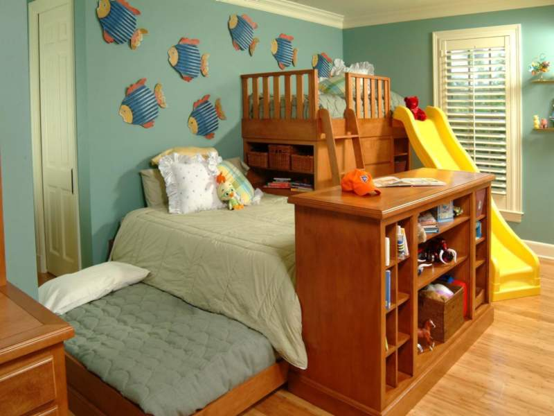 Cozy Kids Room Storage Ideas