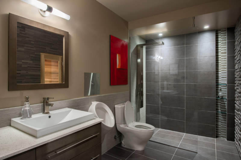 dark basement bathroom ideas