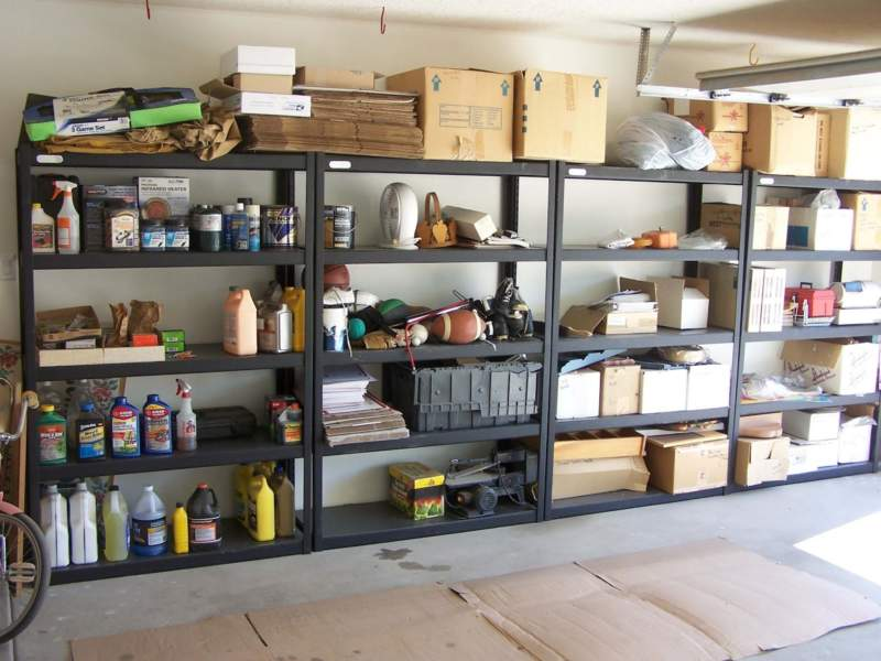 Dark Garage Storage Ideas
