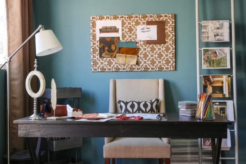 dark wood diy home office design ideas