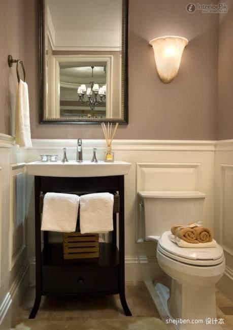 Dark Wood Savvy Bathroom Storage Ideas