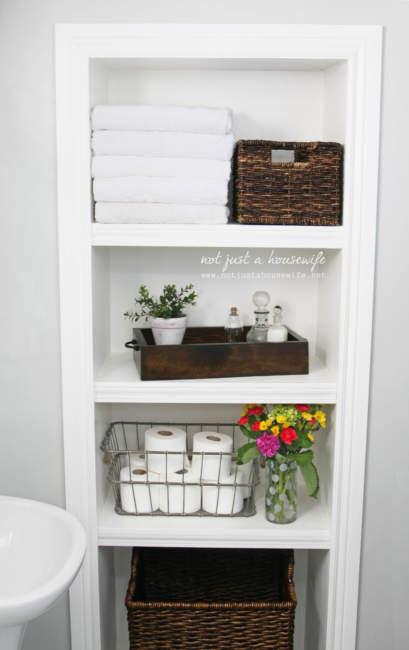 dreamy built in bathroom storage ideas