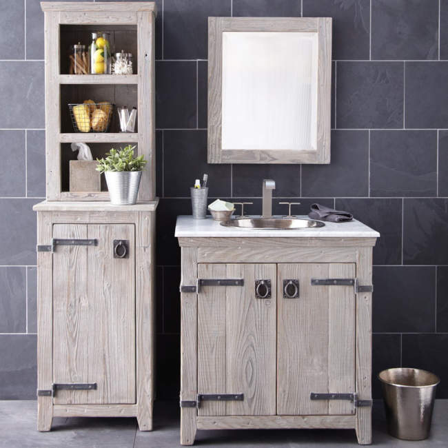 Dual Wood Shelves Savvy Bathroom Storage Ideas