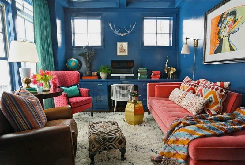 eclectic diy home office design ideas
