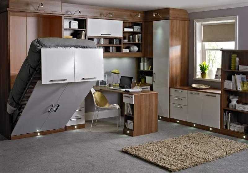 mesmerizing living room office combo ideas | 20+ Bedroom Office Combo Ideas and Inspiration for Narrow ...