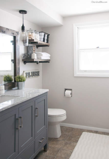 farmhouse half bathroom ideas