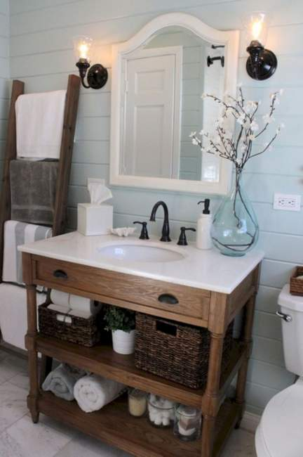 Farmhouse Savvy Bathroom Storage Ideas