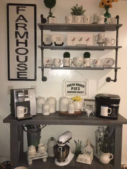 20 Chic Coffee Bar Ideas That Will Makes All Coffee