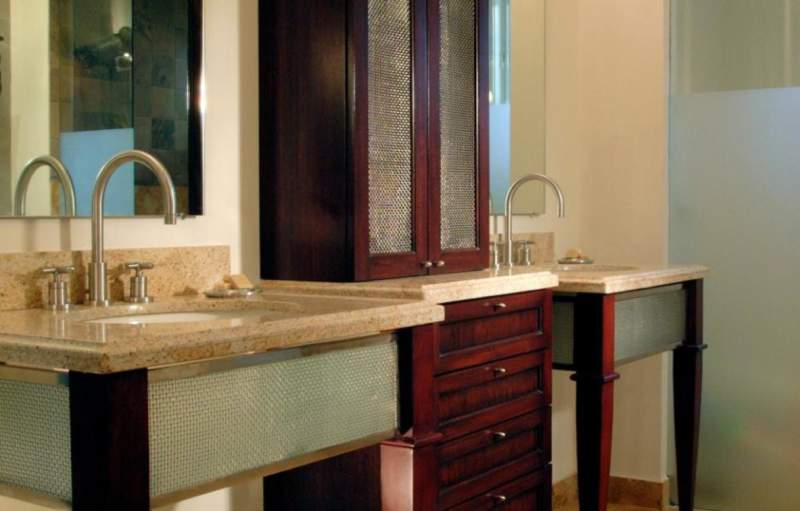 French Country Savvy Bathroom Storage Ideas