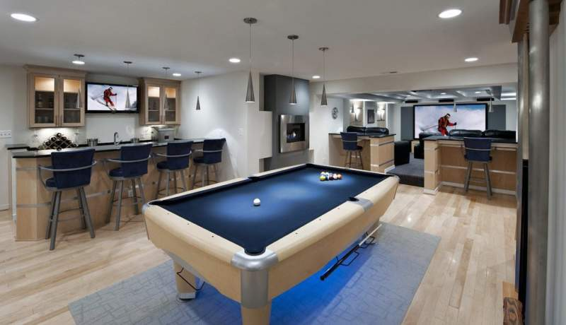 Futuristic Unfinished Basement Ideas