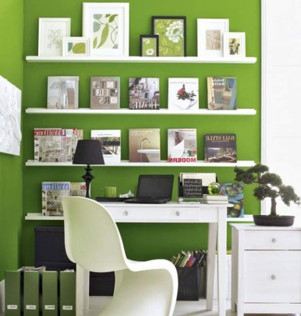 green diy home office design ideas