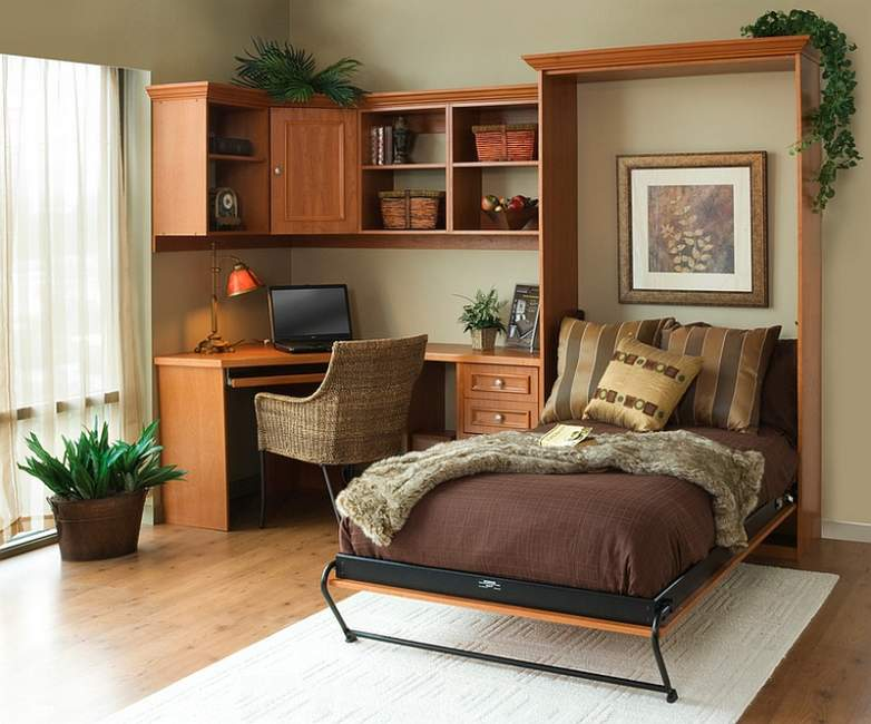 hidden bedroom office combos