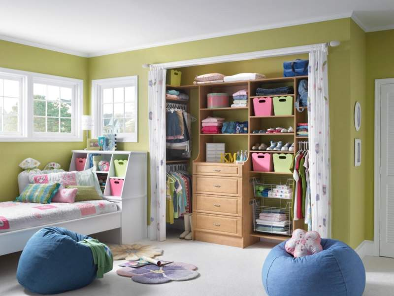 Hidden Shelves Kids Room Storage Ideas