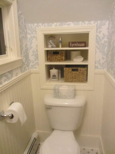 in wall built in bathroom storage ideas