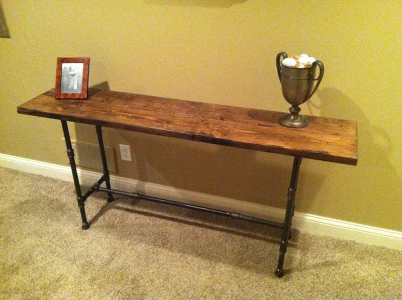 Log Pipe Table Ideas