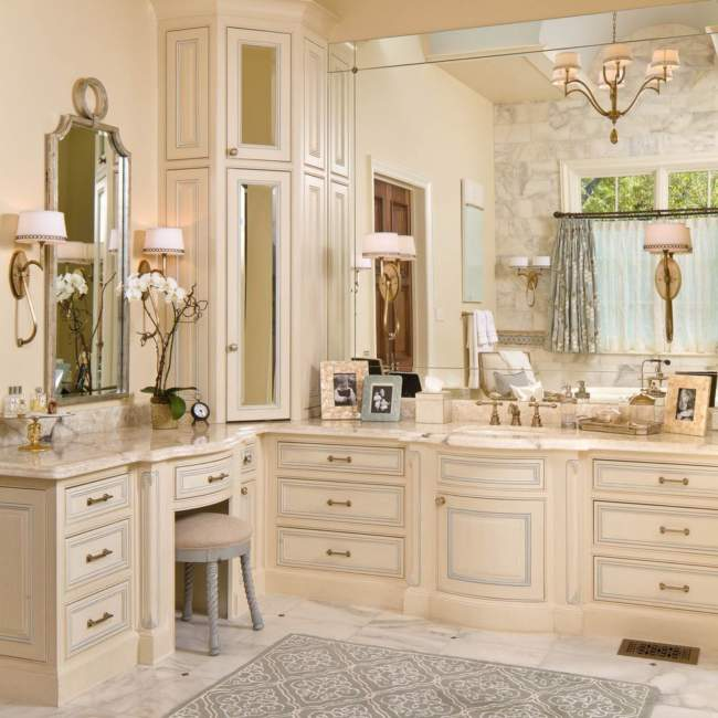 Luxury Farmhouse Built In Bathroom Storage Ideas