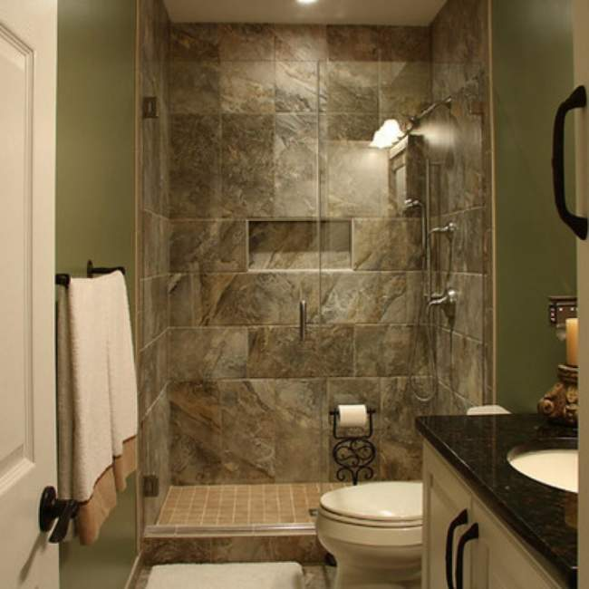 marble tile basement bathroom ideas