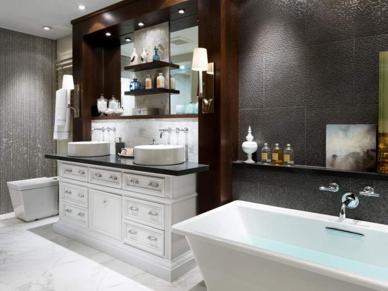 Mediterranean Savvy Bathroom Storage Ideas