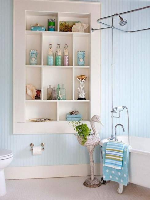 Mid Century Built In Bathroom Storage Ideas