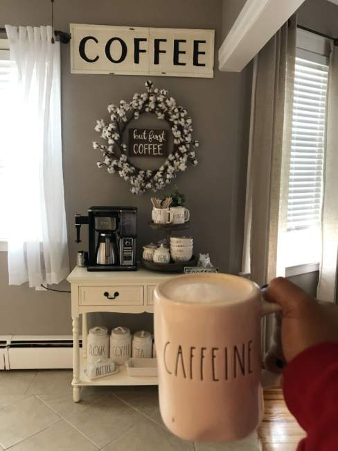 mid century farmhouse coffee bar ideas