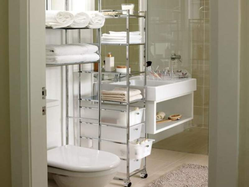 Minimalist Savvy Bathroom Storage Ideas