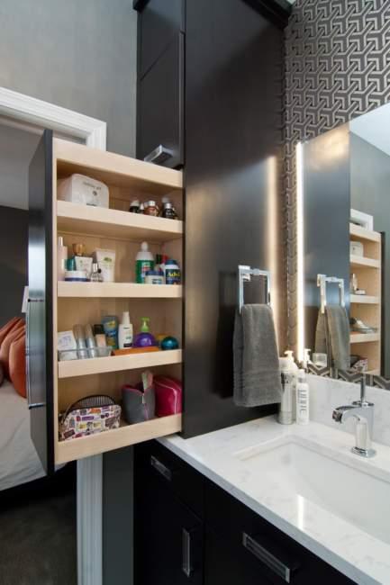 modern built in savvy bathroom storage ideas 1