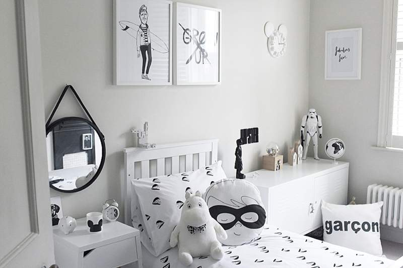 Monochrome Boys Bedroom Ideas