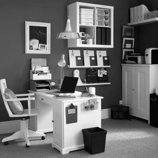 monochrome diy home office design ideas