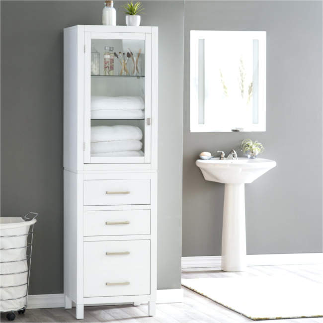 Monochrome Savvy Bathroom Storage Ideas