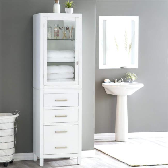 Monochrome Savvy Bathroom Storage Ideas