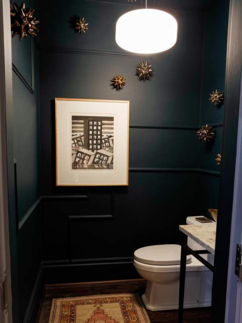 dark half bathroom ideas