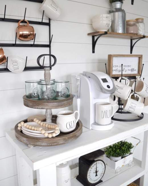 natural style coffee bar ideas