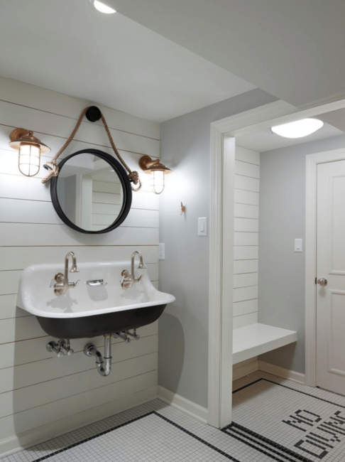 nautical style basement bathroom ideas