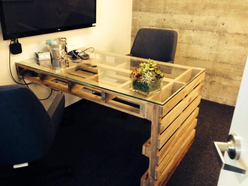 pallet diy home office design ideas