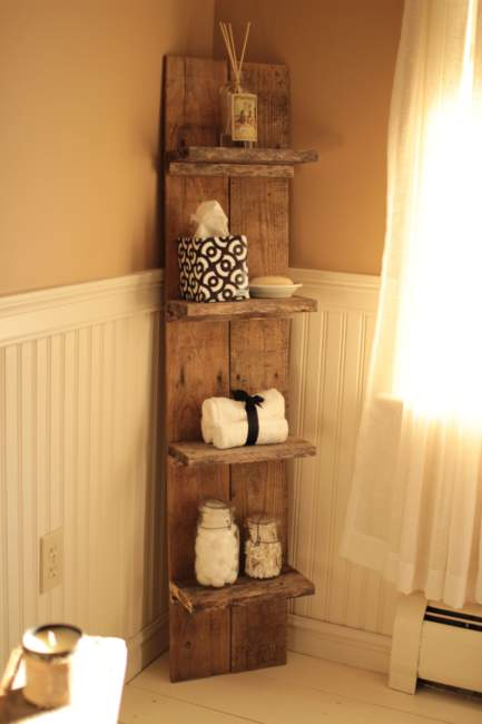 Pallet Savvy Bathroom Storage Ideas