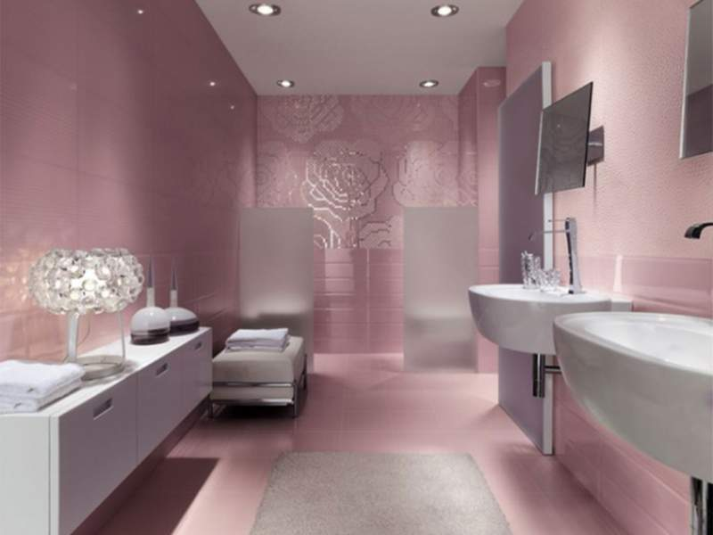 pink basement bathroom ideas